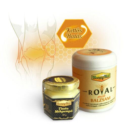 Kettős Hatás csomag - 50 g (1 havi adag) Tiszta Méhpempő + 1db Royal Méh Balzsam